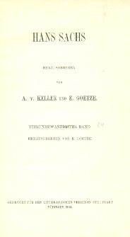 Hans Sachs. Bd. 24