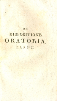 De dispositione oratoria