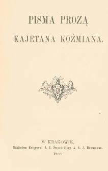 Pisma prozą Kajetana Koźmiana