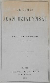 Le comte Jean Dzialynski