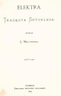 Elektra : tragedya Sophoklesa