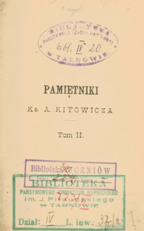 Pamiętniki ks. A. Kitowicza. T. 2