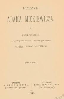 Poezye Adama Mickiewicza. T. 2