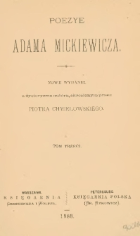 Poezye Adama Mickiewicza. T. 3