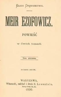 Meir Ezofowicz : powieść w dwóch tomach. T. 1