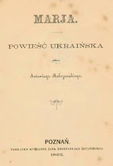 Marja : powieść ukraińska