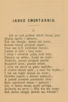 Janko Cmentarnik : gawęda ludowa
