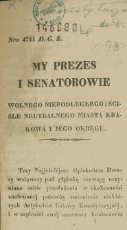 Konstytucya Wolnego Miasta Krakowa i jego okręgu