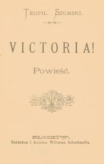 Victoria ! : powieść
