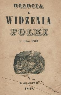 Uczucia i widzenia Polki w roku 1846