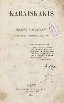 Karaiskakis : obrazek historyczny z epoki powstania greckiegio w roku 1819