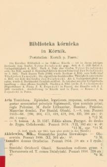 Biblioteka Kórnicka in Kórnik