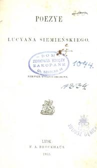 Poezye Lucyana Siemieńskiego