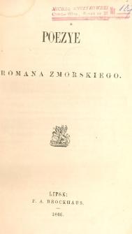Poezye Romana Zmorskiego