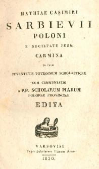 Carmina in usum juventutis potissimum scholasticae