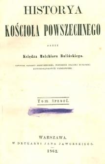 Historya kościoła powszechnego. T. 3