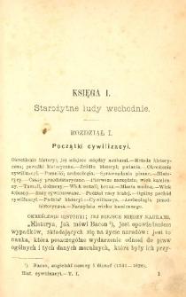 Historya cywilizacyi powszechnej. T. 1