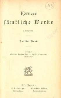 Körners sämtliche Werke : in vier Bänden. Bd. 2