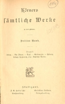 Körners sämtliche Werke : in vier Bänden. Bd. 3