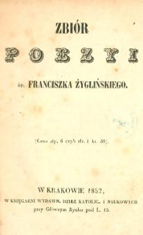 Zbiór poezyi śp. Franciszka Żyglińskiego