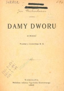 Damy dworu : powieść