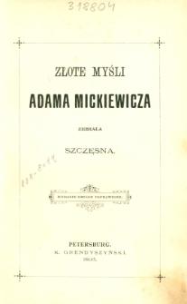 Złote myśli Adama Mickiewicza