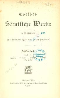 Goethes sämtliche Werke in 36 Bänden. Bd. 12