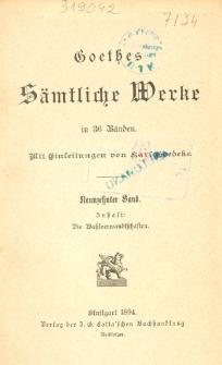 Goethes sämtliche Werke in 36 Bänden. Bd. 19, Wahlverwandtschaften