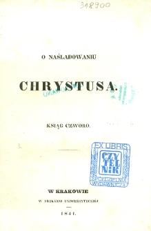 O naśladowaniu Chrystusa ksiąg czworo