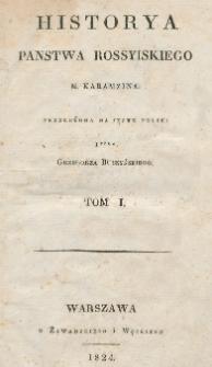 Historya panstwa rossyiskiego M. Karamzina. T. 1