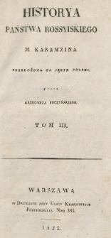 Historya państwa rossyiskiego M. Karamzina. T. 3