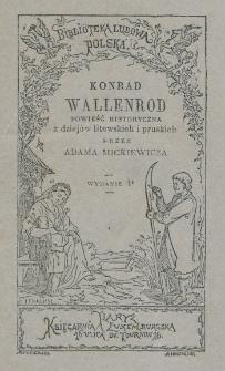Konrad Wallenrod : powieść historyczna z dziejów litewskich i pruskich