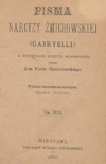 Pisma Narcyzy Żmichowskiej (Gabryelli). T. 2