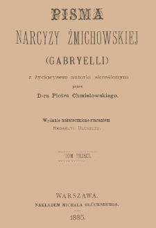 Pisma Narcyzy Żmichowskiej (Gabryelli). T. 3