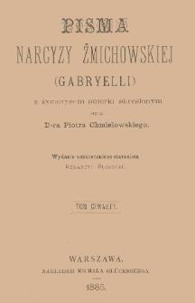 Pisma Narcyzy Żmichowskiej (Gabryelli). T. 4