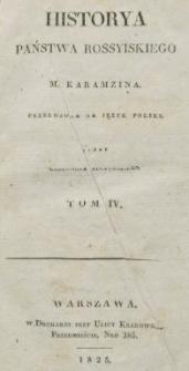 Historya państwa rossyiskiego M. Karamzina. T. 4