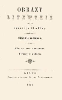 Obrazy litewskie. Serya 2