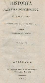 Historya państwa rossyiskiego M. Karamzina. T. 5