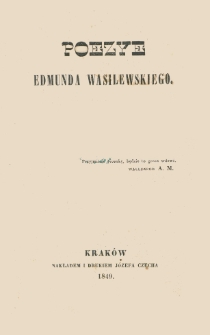 Poezye Edmunda Wasilewskiego