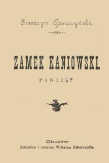 Zamek kaniowski : powieść