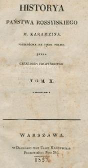 Historya państwa rossyiskiego M. Karamzina. T. 10
