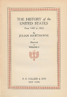 The history of the United States from 1492 to 1912. Vol. 1