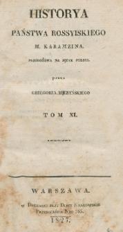Historya państwa rossyiskiego M. Karamzina. T. 11