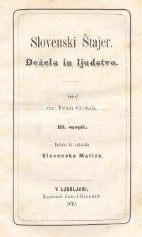 Slovenski Štajer : dežela in ljudstvo. 3 snopič