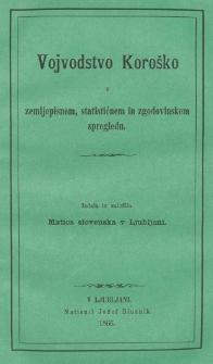 Vojvodstvo Koroško v zemljepisnem, statističnem in zgodovinskem spregledu