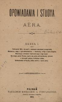 Opowiadania i studya Aëra. Ser. 1