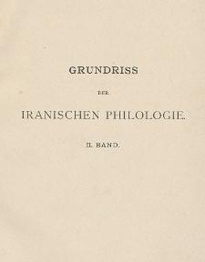 Grundriss der iranischen Philologie Bd. 2, Literatur : Geschichte und Kultur : Register zum II. Band