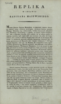 Replika w sprawie kapitana Majewskiego