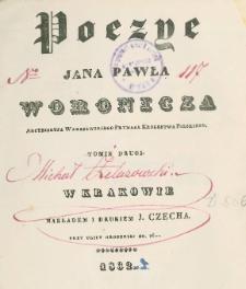 Poezye Jana Pawła Woronicza. T. 2