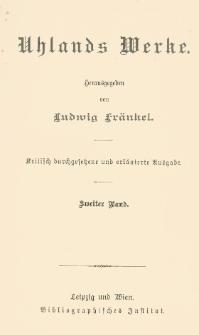 Uhlands Werke. Bd. 2